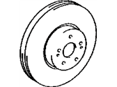Lexus Brake Disc - 43512-0E021