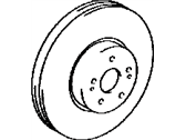 Lexus Brake Disc - 43512-33140