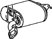 Lexus HS250h Exhaust Pipe - 17430-28A20