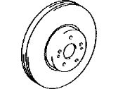 Lexus Brake Disc - 43512-0E030